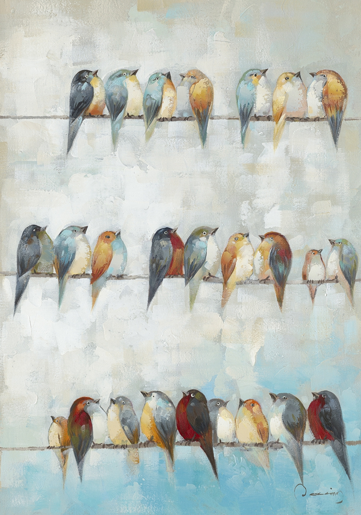 Schilderij vogels 70x100
