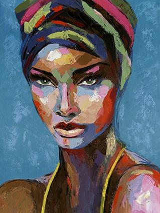 schilderij woman modern 90x120