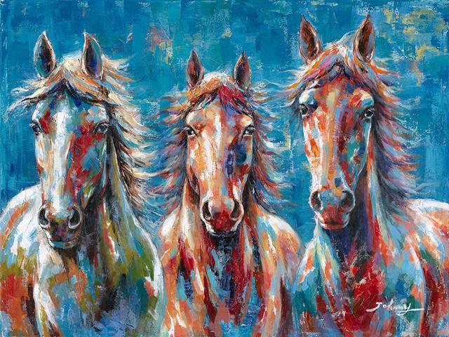 schilderij Paarden 90x120