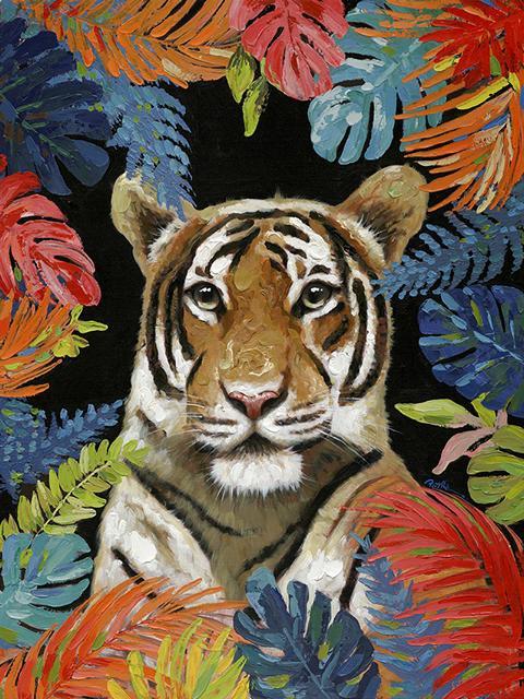 Schilderij tijger 90x120