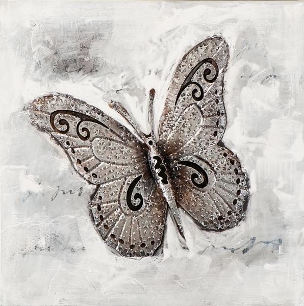 Schilderij vlinder 60x60