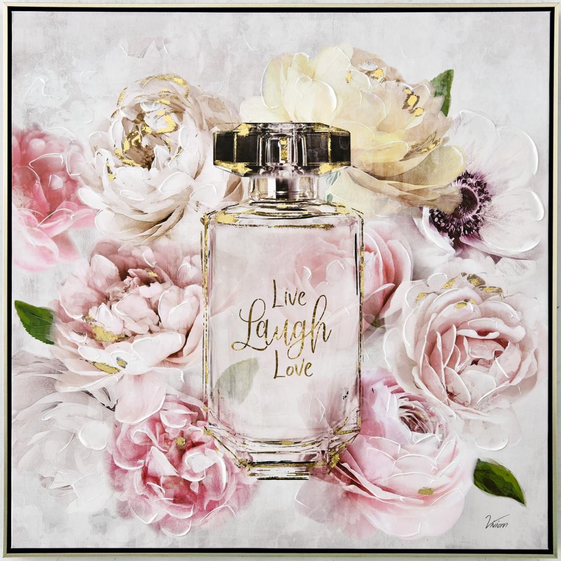 Schilderij parfum 82x82
