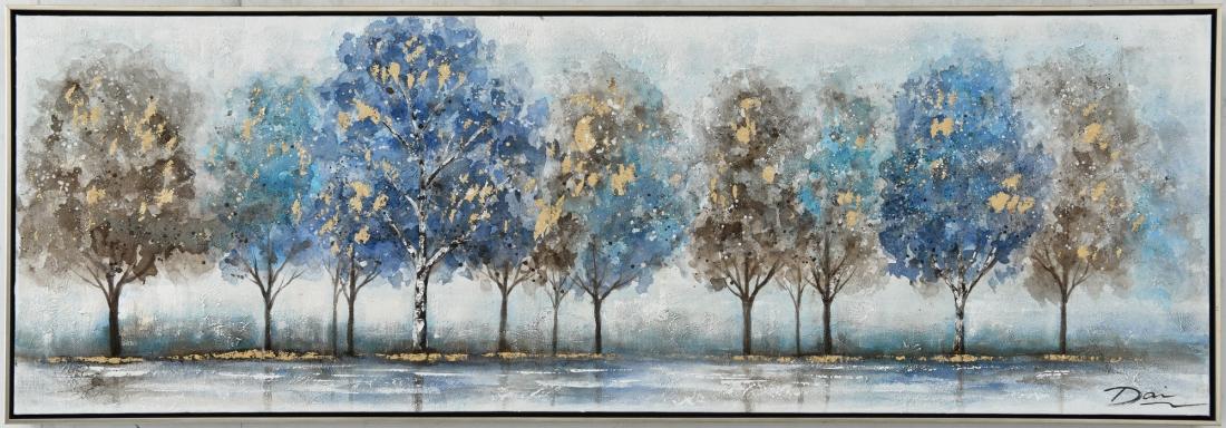 Schilderij bomen 52x152