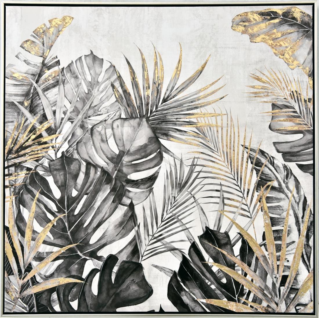 Schilderij botanisch 82x82