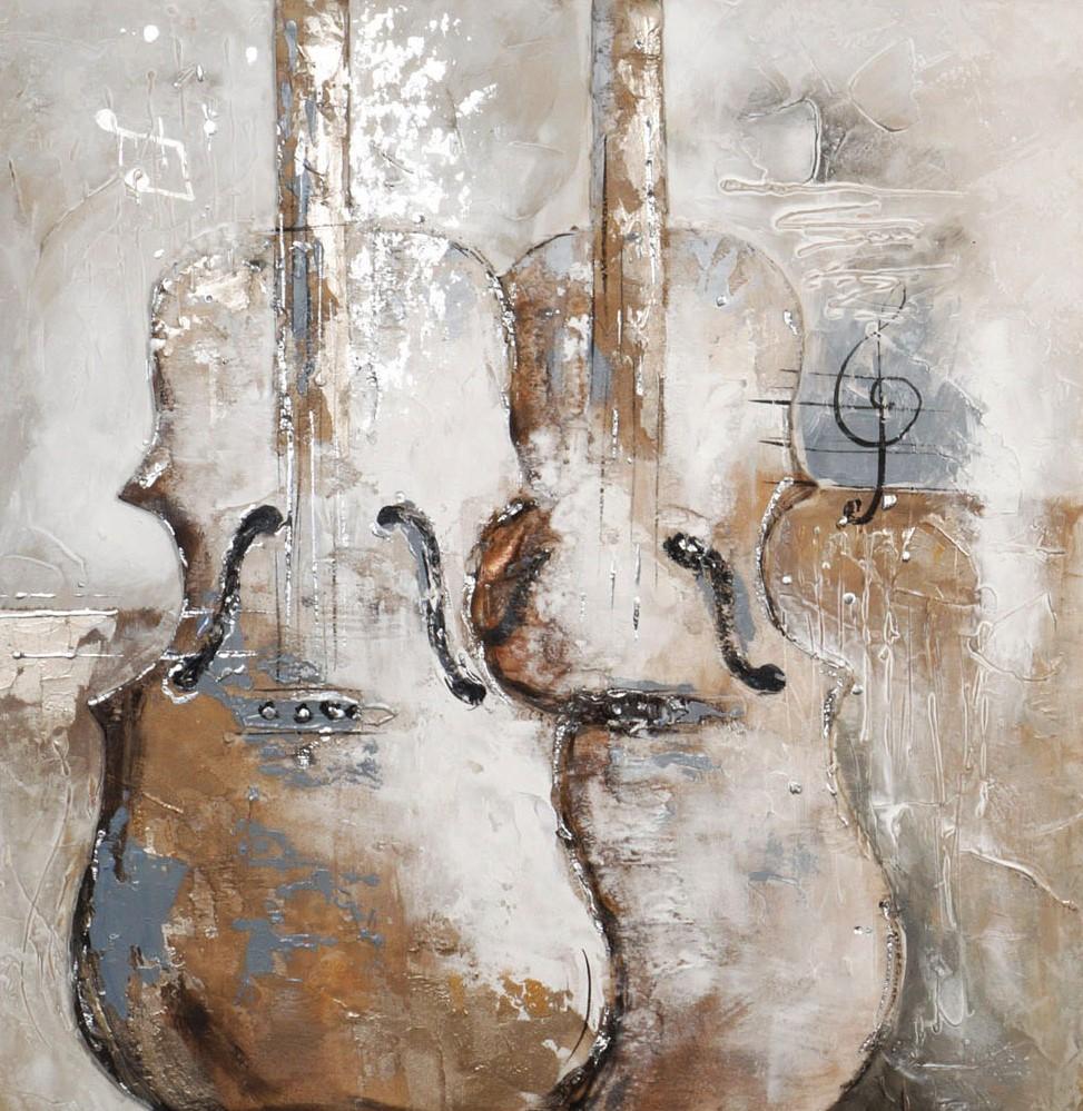 schilderij cello 80x80