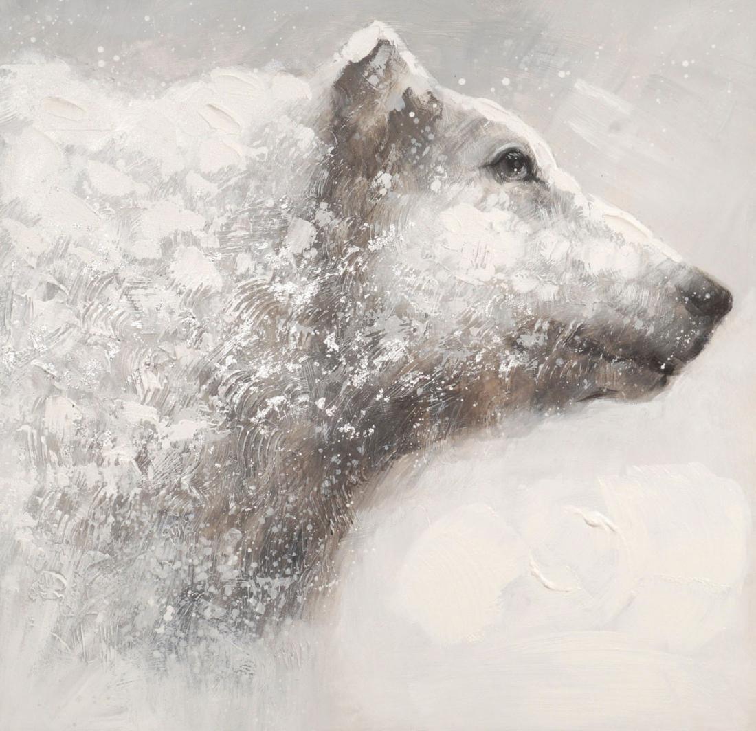 schilderij ijsbeer 80x80