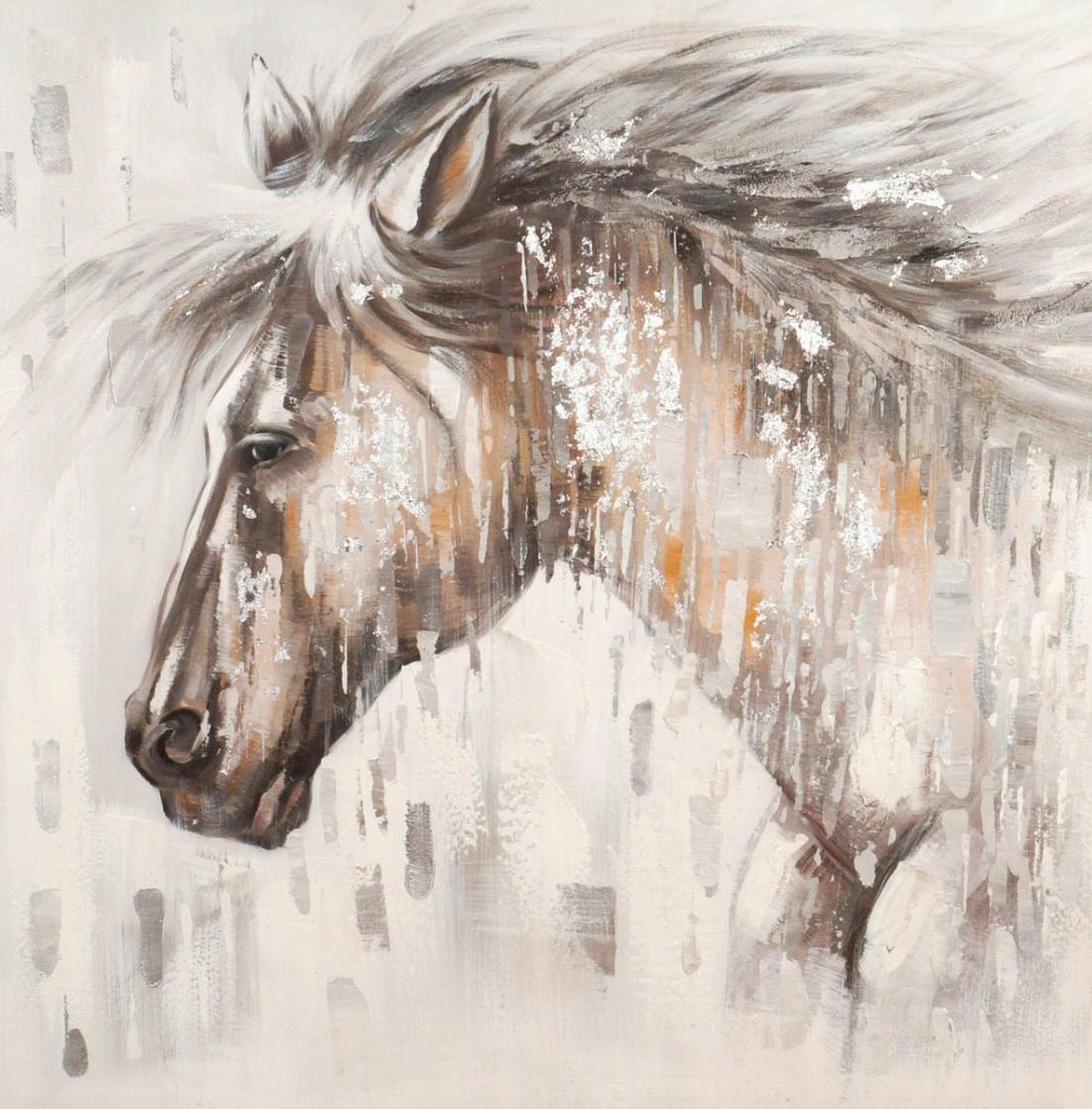 schilderij paard 90x90