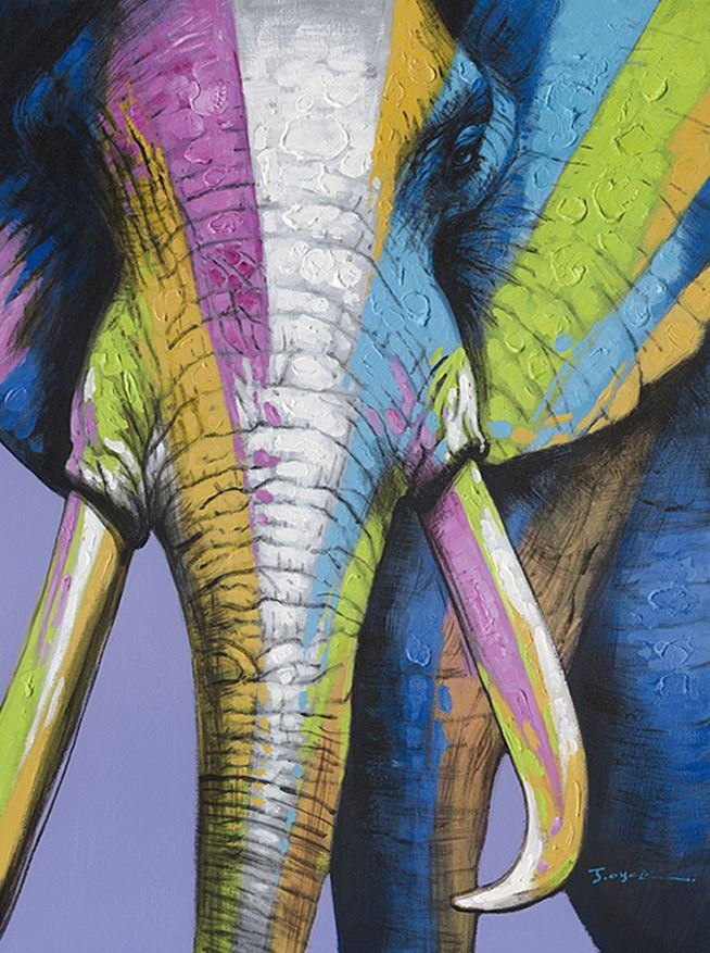 schilderij olifant 90x120