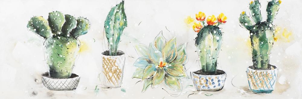schilderij cactussen 50x150