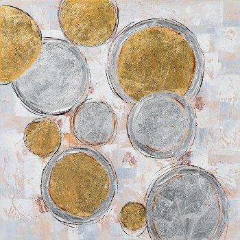 Schilderij abstract cirkels 100x100