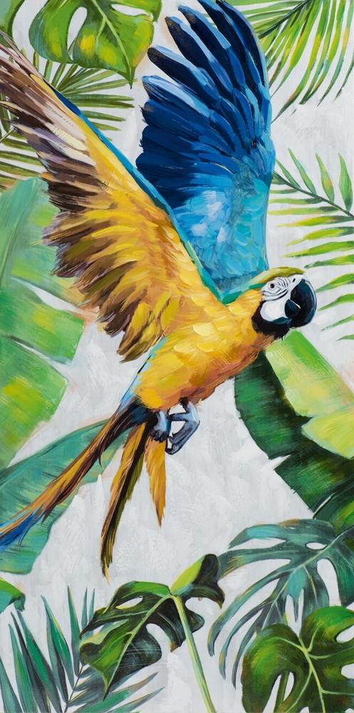 Schilderij papegaai 120x60