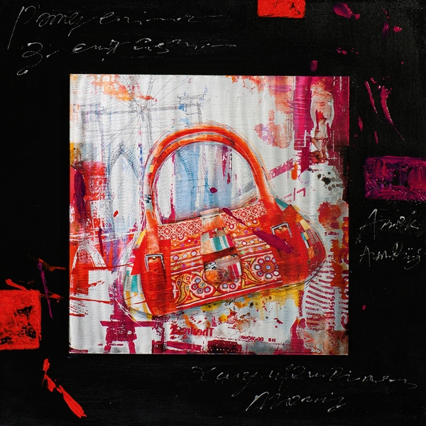 schilderij modern 70x70