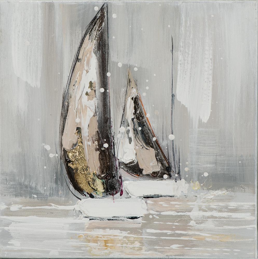 Schilderij boten 25x25