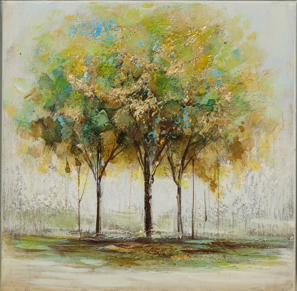 Schilderij bomen 25x25
