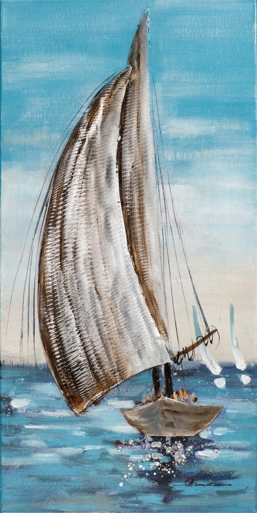 schilderij zeilboot 80x40