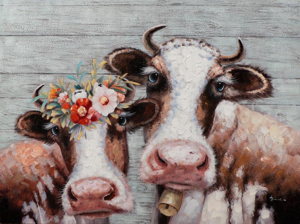 schilderij koeien 90x120