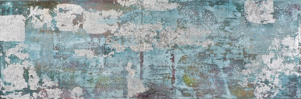 Schilderij abstract 50x150