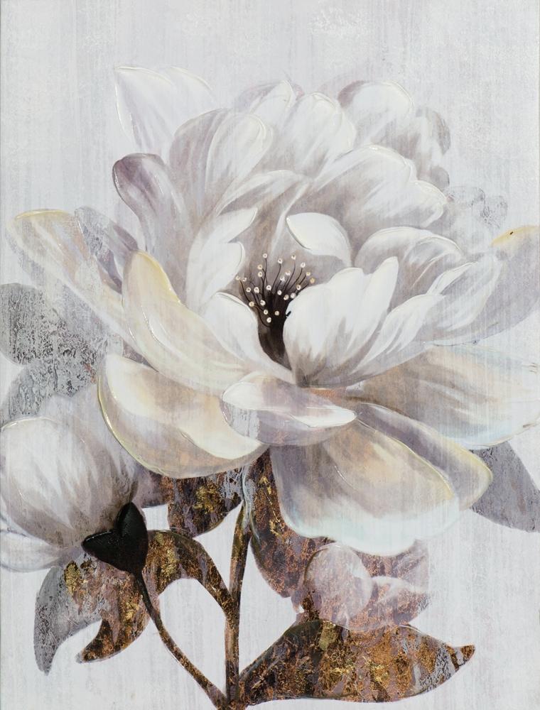 Schilderij bloem 60x80