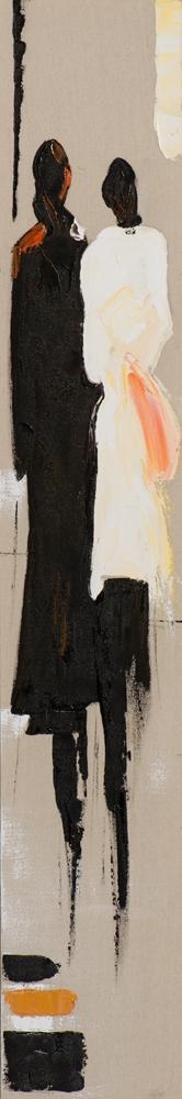 Schilderij figuratief 25x150