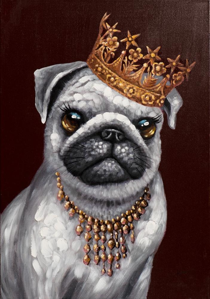 Schilderij bulldog king 70x100