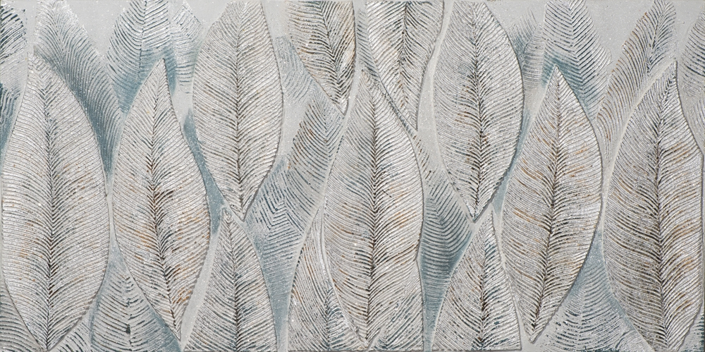 Schilderij veren 70x140
