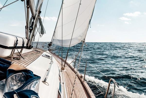 Glas zeilboot 80x120