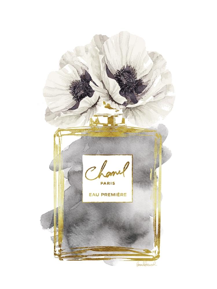 Fotokunst parfum op glas 60x80