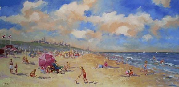 Schilderij Strand 60x120