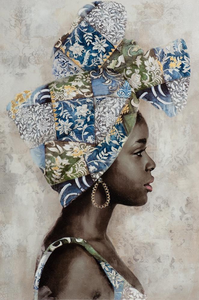 Schilderij vrouw 80x120