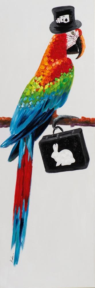 Schilderij ara papegaai 50x150