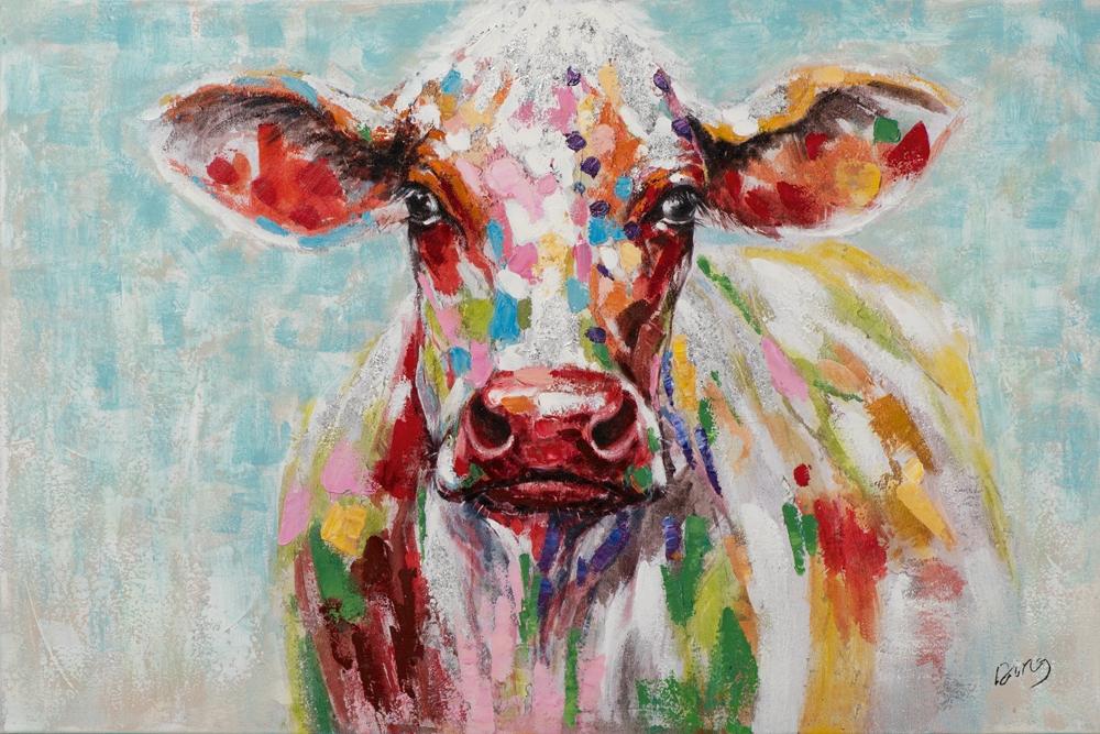 schilderij koe 80x120