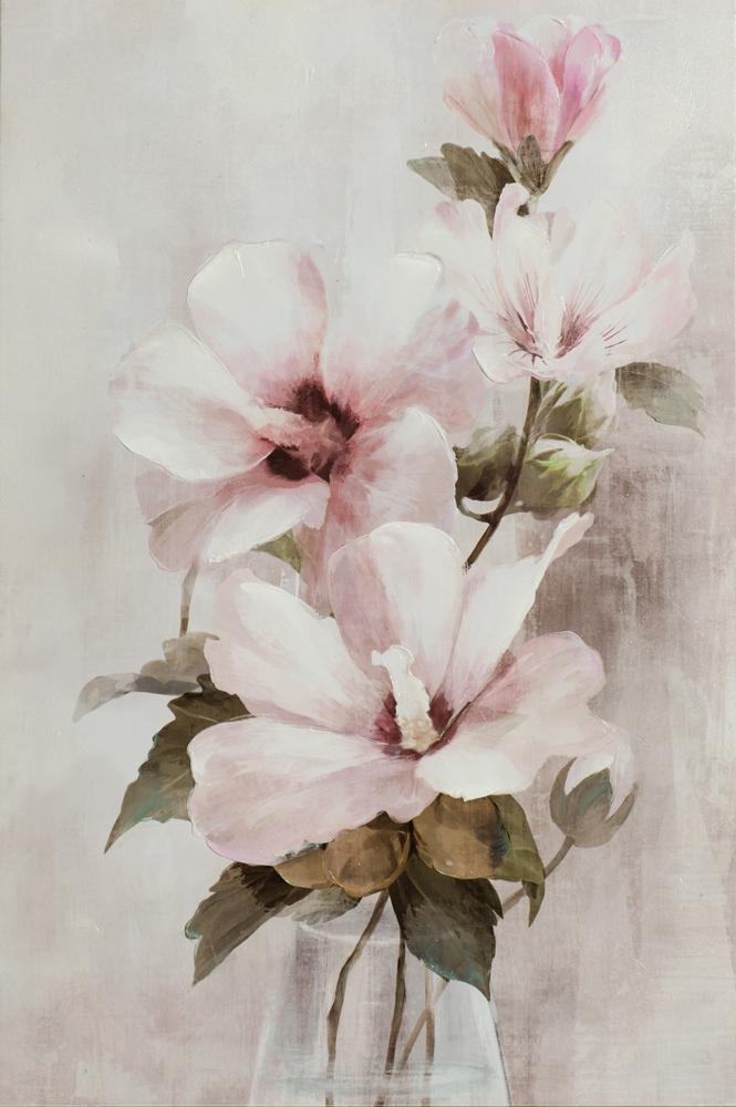 Schilderij bloemen 60x90