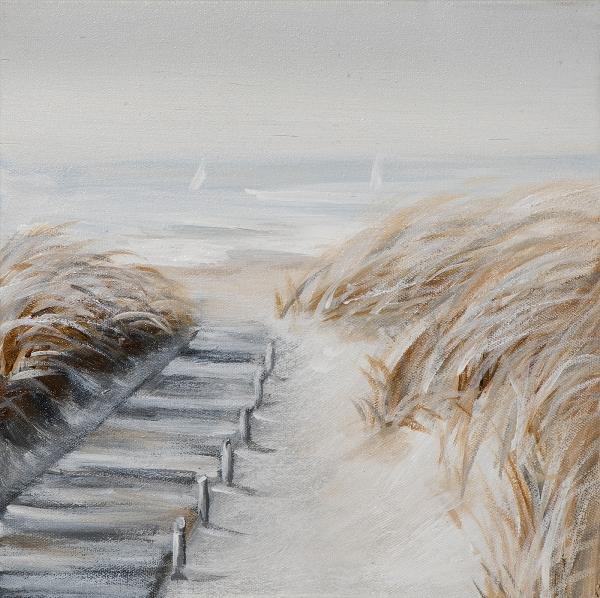 Schilderij strand 25x25