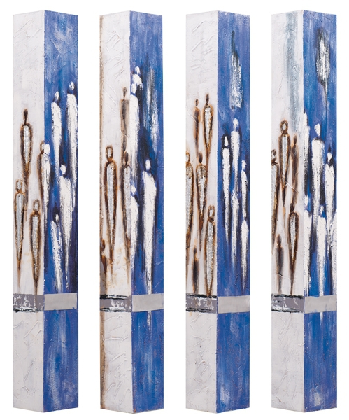 Driehoek schilderij meerluik 80x120