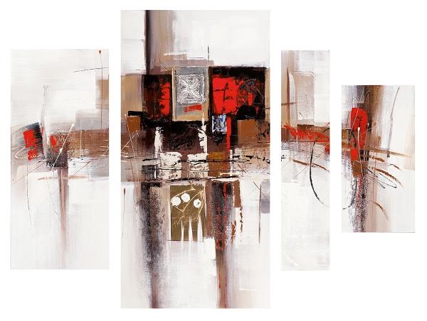 Schilderij 4 luik abstract 120x150