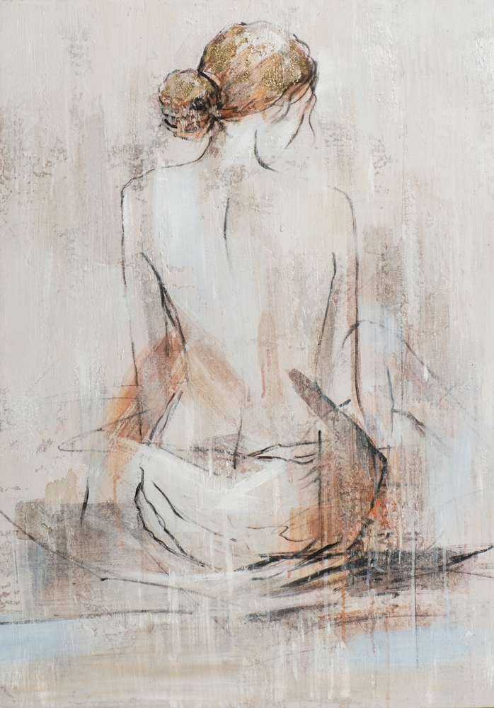 Schilderij vrouw 70x100