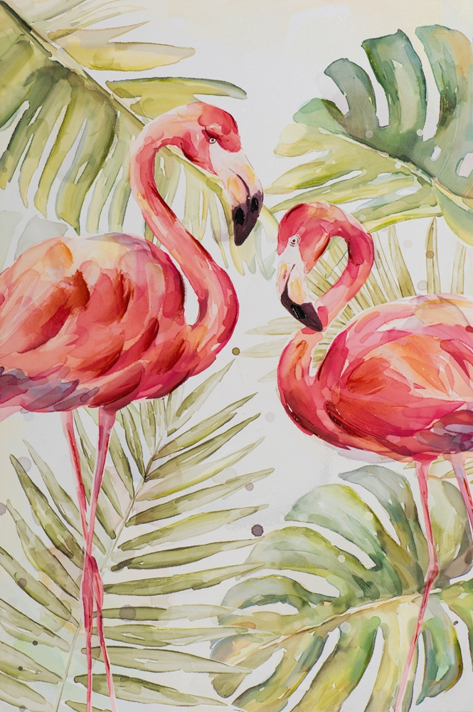 Schilderij flamingo's 80x120