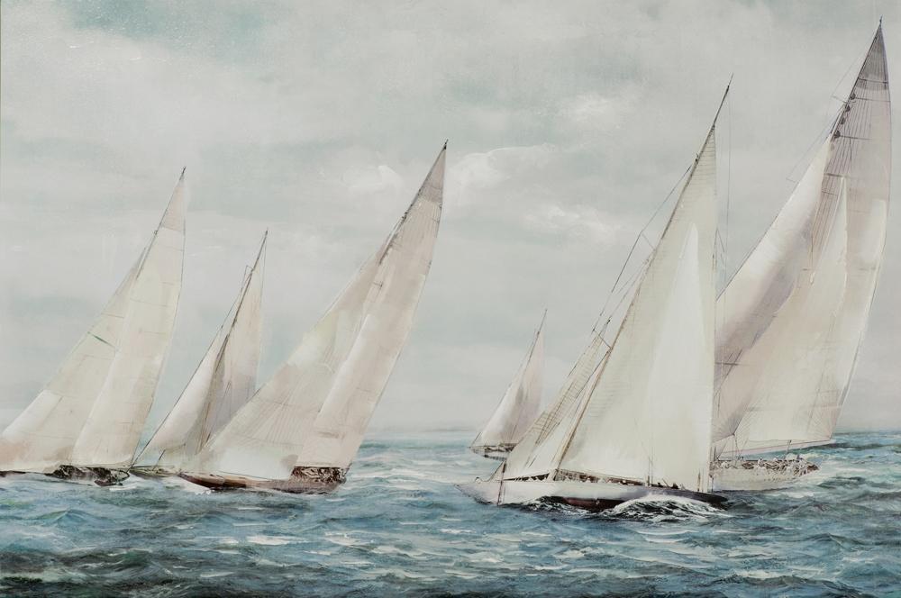schilderij zeilboten 80x120