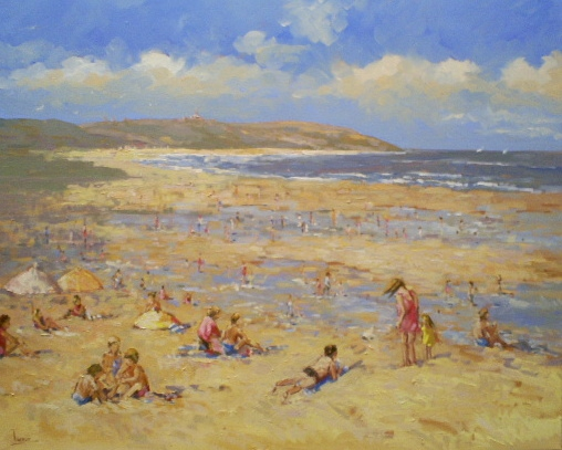 Schilderij Strand 80x100