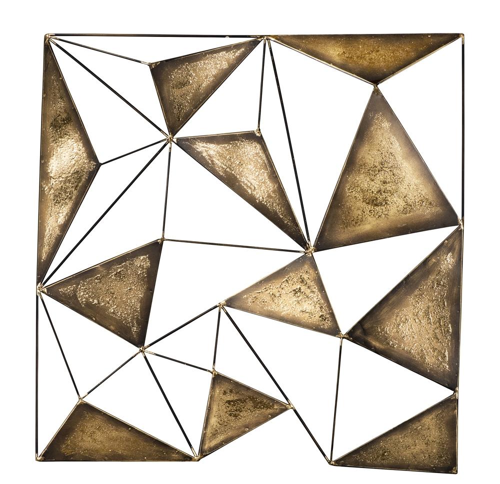 Metalen wandobject abstract 81x83