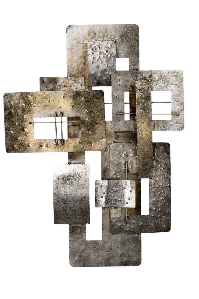 Metalen wandobject abstract 59x80