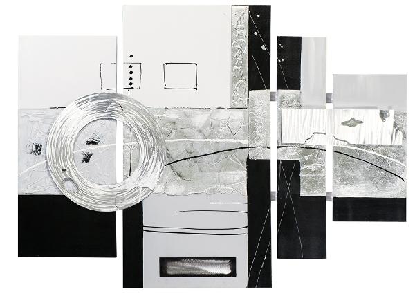 Schilderij abstract 4-luik 159x115