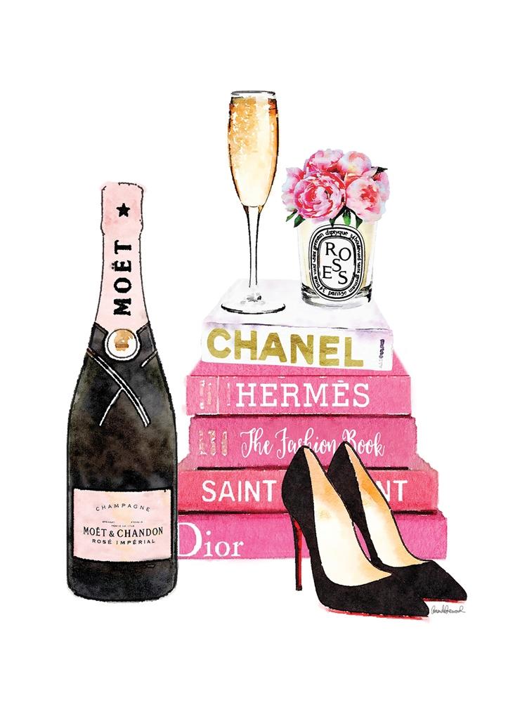 Fotokunst champagne Moet 60x80