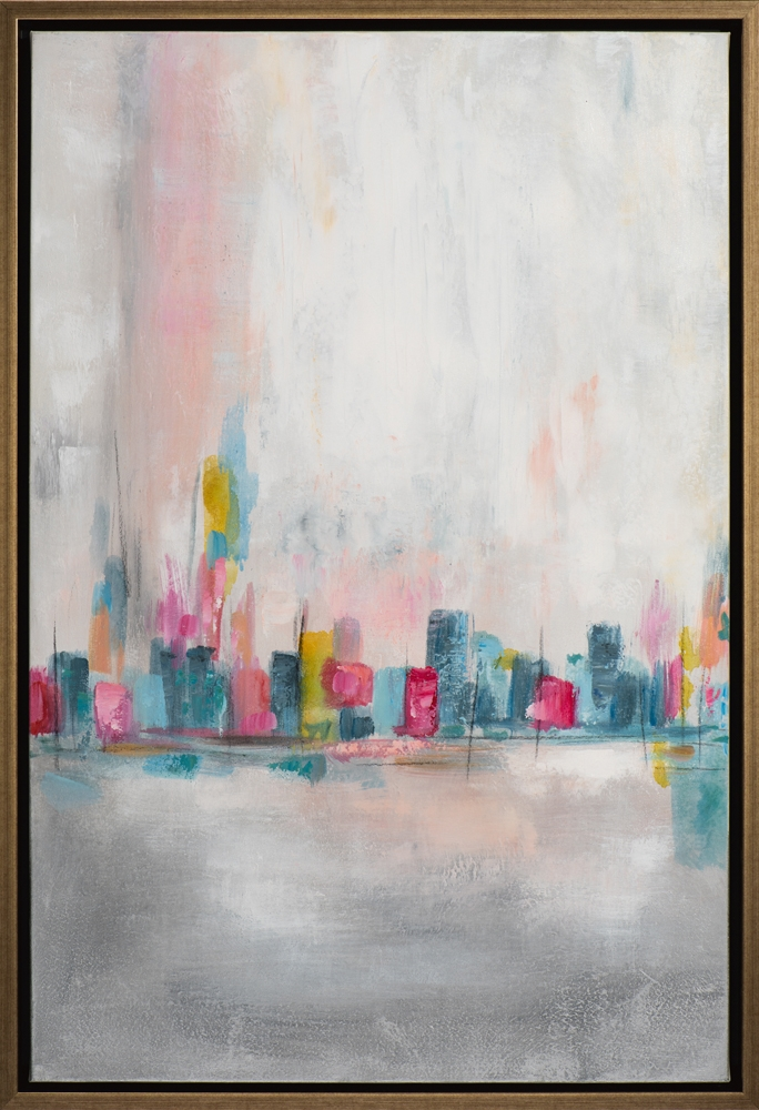 Schilderij abstract met lijst 65,5 x 95,5