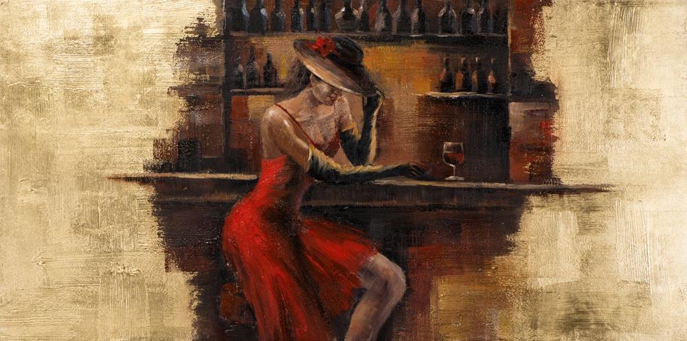 schilderij figuratief 70x140