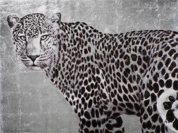 Schilderij luipaard 90x120