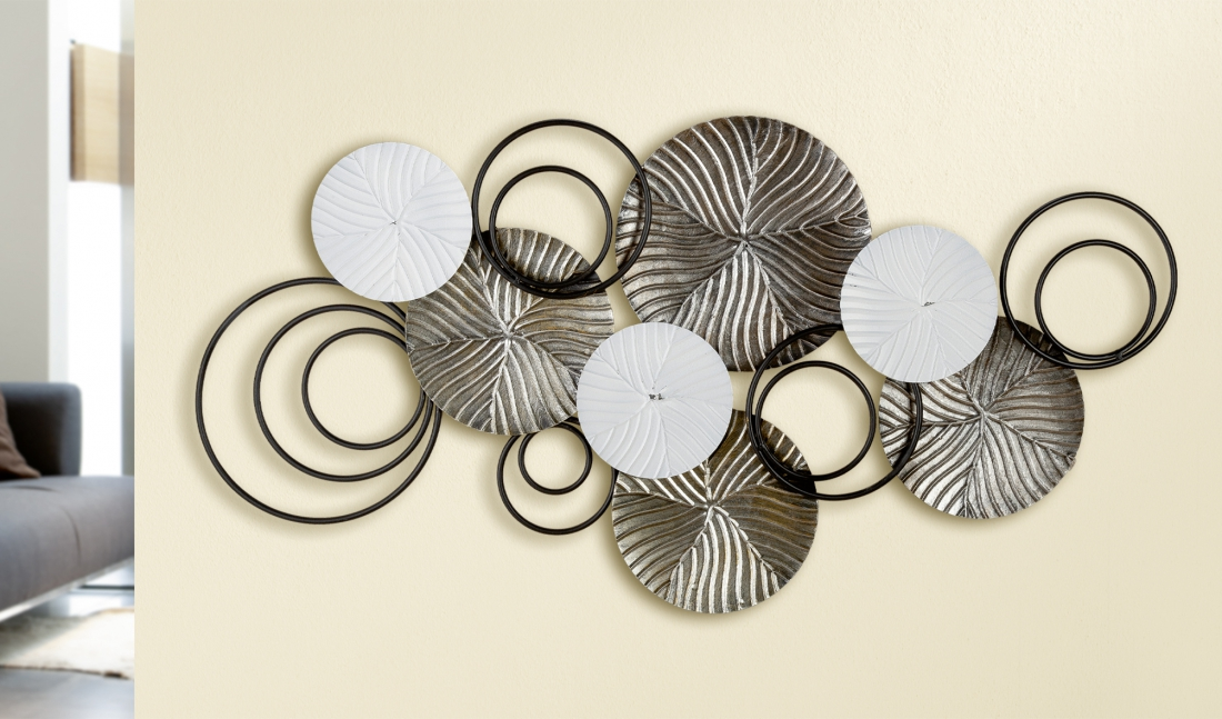 Metalen wandobject abstract 97x47