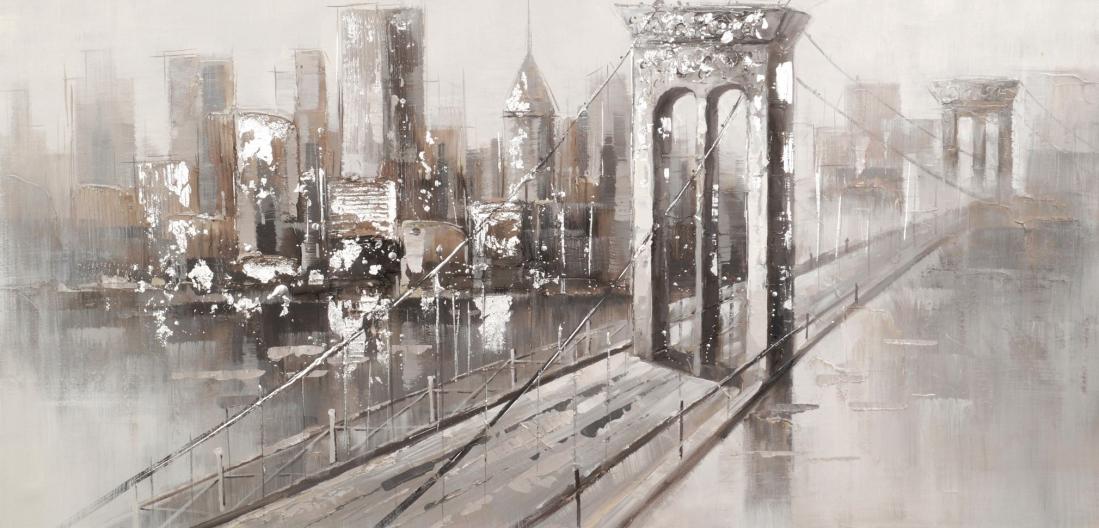 schilderij brooklyn bridge 70x140