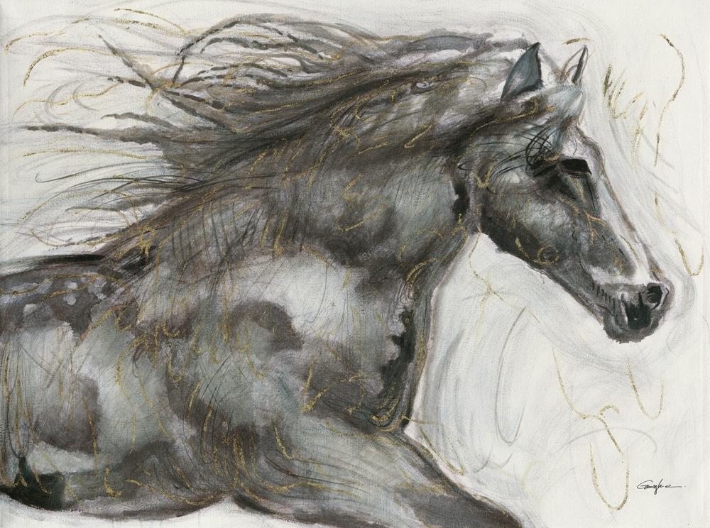 schilderij paard 90x120