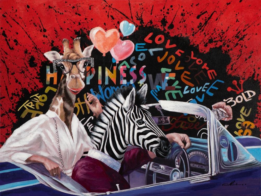 Schilderij pop art 90x120